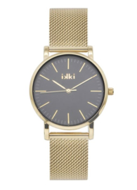 IKKI HORLOGE - ROSE - GOLD/BLACK RSE05