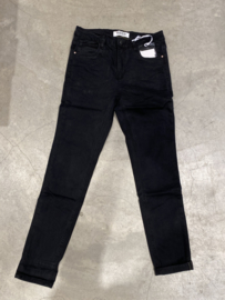 QUEEN HEARTS JEANS - ROLL UP BLACK
