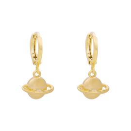 EARRING - SATURN - GOLD