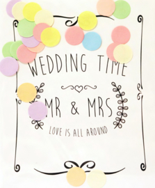 CONFETTI POSTCARD - WEDDING TIME
