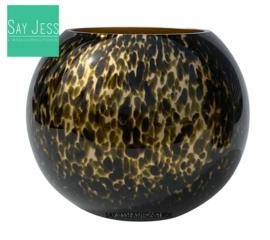 ZAMBEZI CHEETAH GOLD - Ø25 x H20,5 cm