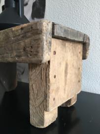 Vensterbank krukje groot   oud hout