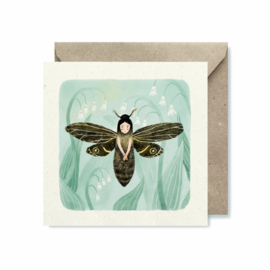 Folded card | Moth fairy