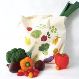 Tas eco katoen 'Happy veggies'