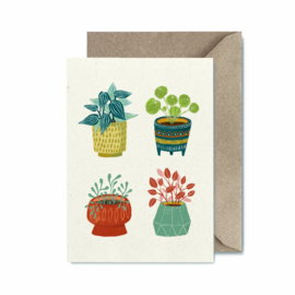 Folded card | Plants