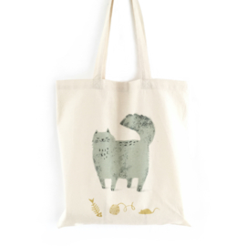 Tas eco katoen 'Fluffy cat'