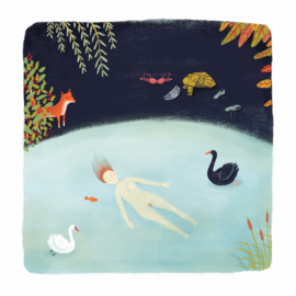 Artprint | Nightly swim with swans