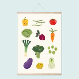 Poster A2 | Happy veggies
