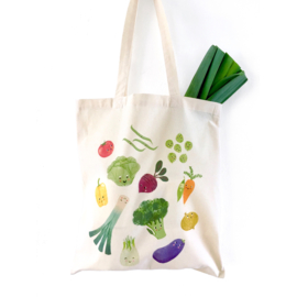 Tote bag organic cotton 'Happy veggies'