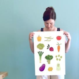 Poster A3 | A2 | Happy veggies
