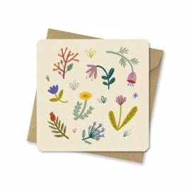 Kaart   Pretty flowers