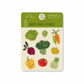 Stickervel | Happy veggies