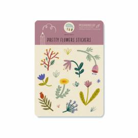Stickervel | Pretty flowers