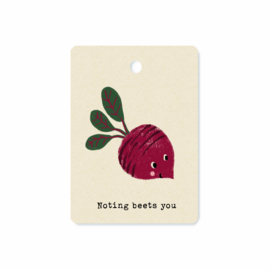 Gifttag Nothing beets you