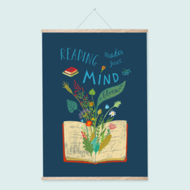 Poster A2 | Reading makes your mind bloom