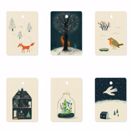 6 kerst gifttags