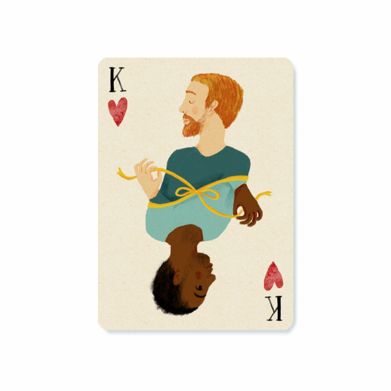 Postcard   King of hearts