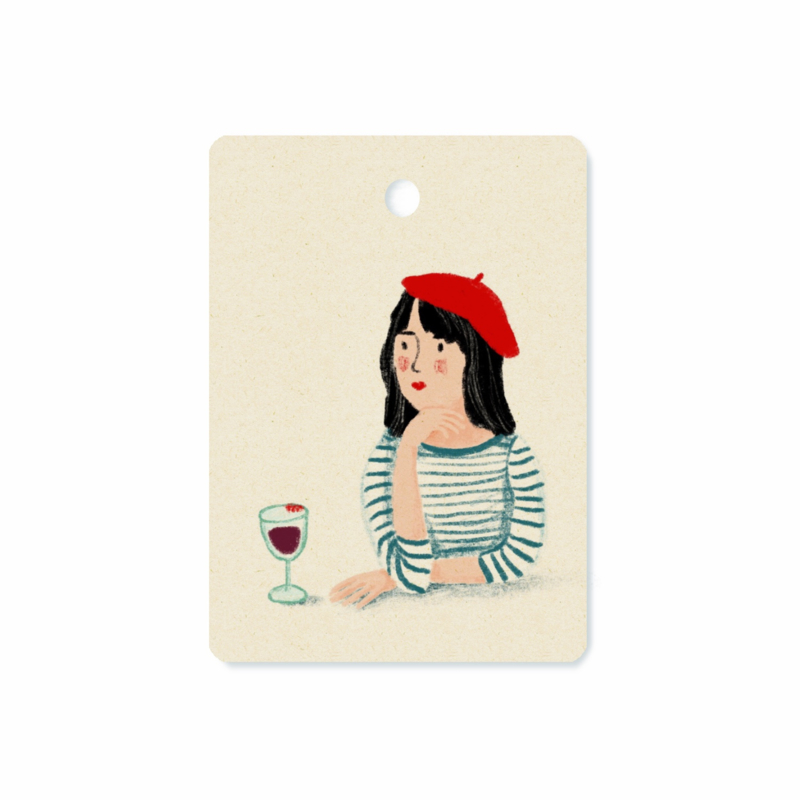 Gifttag French girl