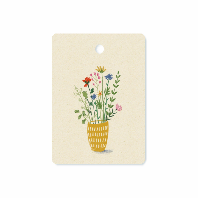 Gifttag Wildflowers