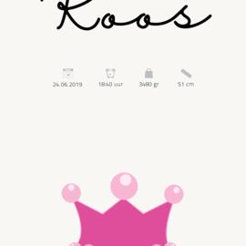Kraamposter | Prinses