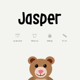 Kraamposter | Teddybeer