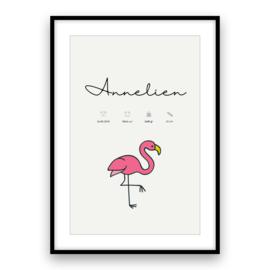 Kraamposter | Flamingo