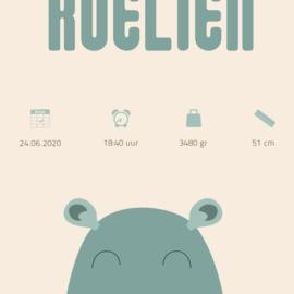 Kraamposter: Nijlpaard