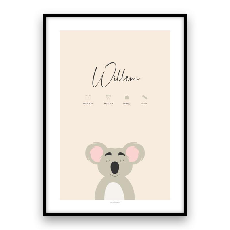 Kraamposter: Koala