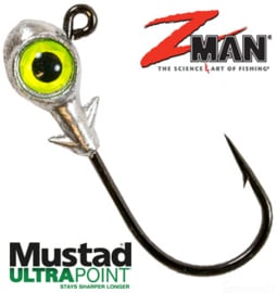 Z Man Trout Eye Finesse Jighead 3/16oz (5,3gr) Chartreuse