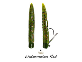 "Lunkerhunt Finesse Worm 3"" Watermelon Red"
