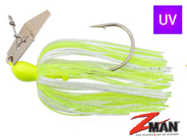 Z Man Chatterbait The Original 1/4 oz (plm 7 gr) Chartreuse White / Gold Blade