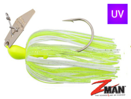 Z Man Chatterbait The Original 1/4 oz (plm 7 gr) Chartreuse / White