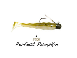 "Lunkerhunt Finesse Swimbait 3"" Perfect Pumpkin"