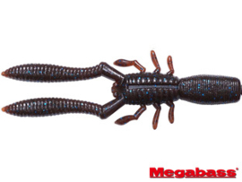 "Megabass Bottle Shrimp 3"" Scuppernong Blue Flake"
