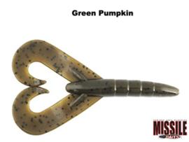 "Missile Baits Twin Turbo 3,25"" Green Pumpkin"