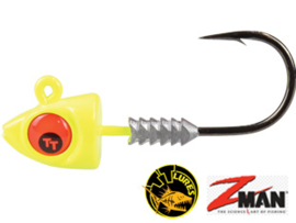 TT Lures Big Eyez Chartreuse Red Eyez 1/4oz (7 gr) Haakmaat 3/0