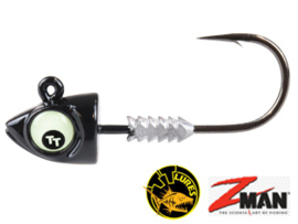 TT Lures Big Eyez Black Glow Eyez 1/4oz (7 gr) Haakmaat 3/0