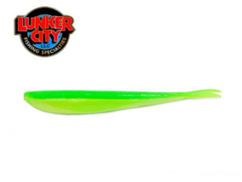 "Lunker City Fin S Fish 7"" Limetreuse ***NIEUW***"