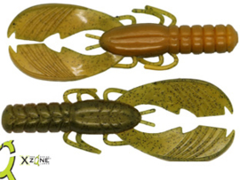 """X Zone Lures Muscle Back Craw 4""""Perch ***NIEUW***"""