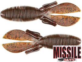"Missile Baits D Bomb 4"" Green Pumpkin Red"