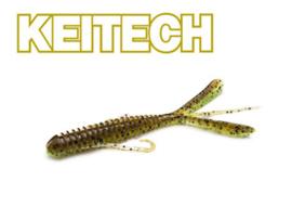 """Keitech Hog Impact 3"""" Green Pumpkin / Chartreuse"""