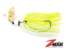 Z Man Chatterbait Freedom 1/2oz (plm 14 gr) Chartreuse / White