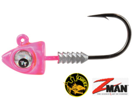 TT Lures Big Eyez Pink Silver Eyez 1/4oz (7 gr) Haakmaat 3/0