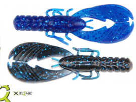 "X Zone Muscle Back Craw 3,25"" Black Blue Lam"