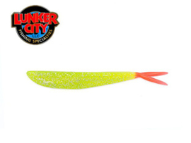 Lunker City Chartreuse Flake Fire Tail