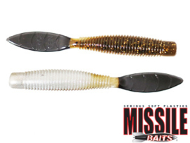 "Missile Baits Ned Bomb 3,25"" Green Pumpkin Baby Bass Tail"