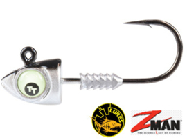 TT Lures Big Eyez Silver/Black Glow Eyez 3/8oz (plm 10,5 gr) Haakmaat 3/0