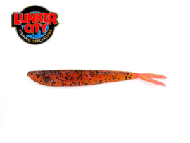 "Lunker City Fin S Fish 4"" Rootbeer Fire Tail"