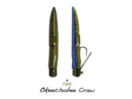 "Lunkerhunt Finesse Worm 3"" Okeechobee Craw"