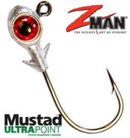 Z Man Trout Eye Finesse Jighead 1/8oz (3,5gr) Red